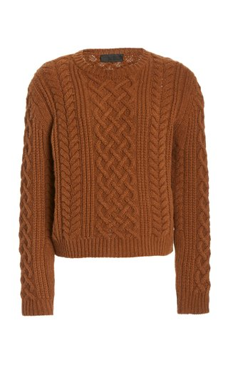 Jodelle Cable-Knit Cashmere Sweater