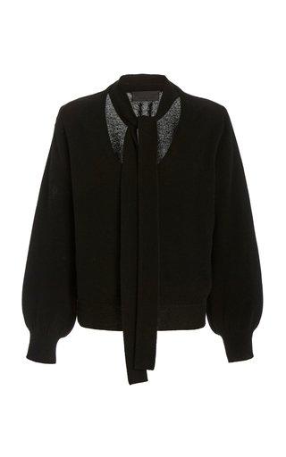 Shaelyn Cashmere Tie-Neck Sweater
