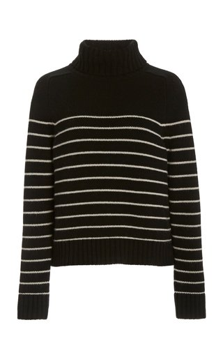 Molly Striped Cashmere Turtleneck Sweater