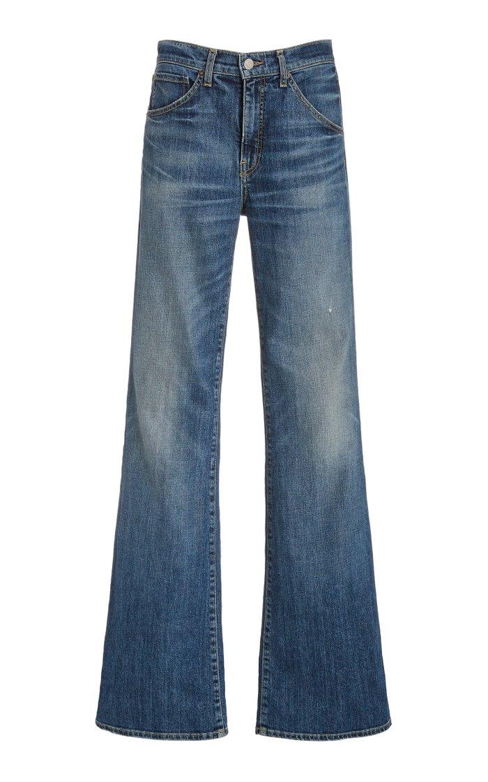 Celia Stretch High-Rise Flared-Leg Jeans