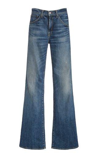 Celia Stretch Mid-Rise Flared-Leg Jeans