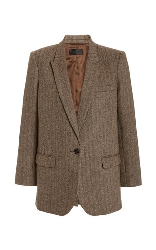 Diane Pinstriped Wool-Blend Blazer