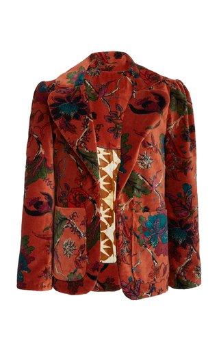 Hardy Cinnamon Print Velvet Blazer