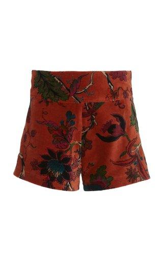 Brigitte Cinnamon Velvet Shorts