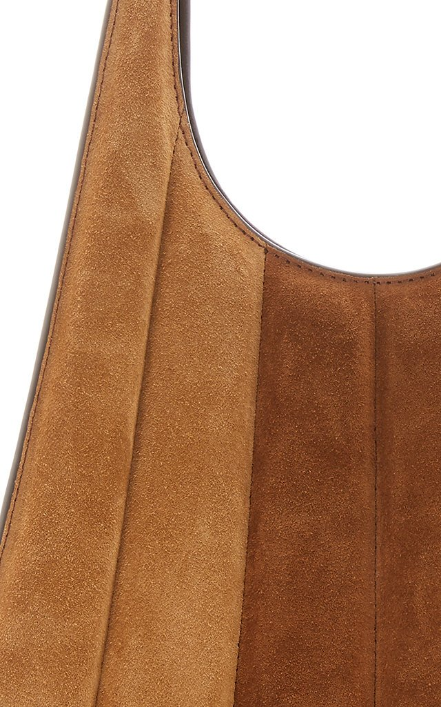 Rey Striped Suede Shoulder Bag