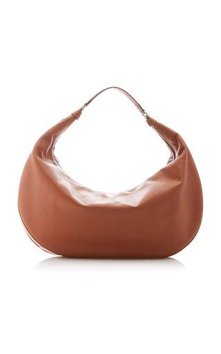 Large Shasha Leather Hobo Shoulder Bag