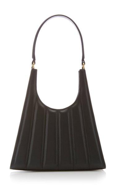 Rey Striped Leather Shoulder Bag