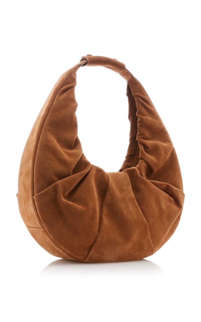 Large Soft Moon Suede Shoulder Bag