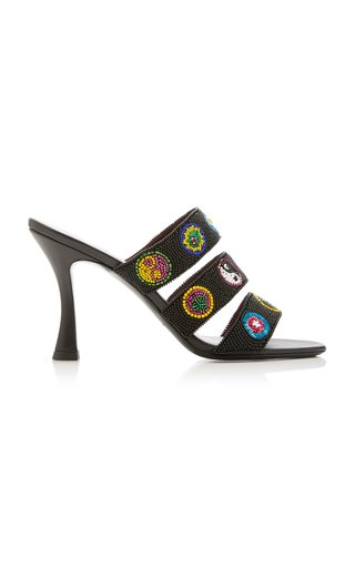 Sonny Beaded Leather Sandals