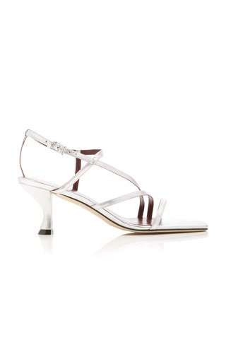 Gita Metallic Leather Sandals