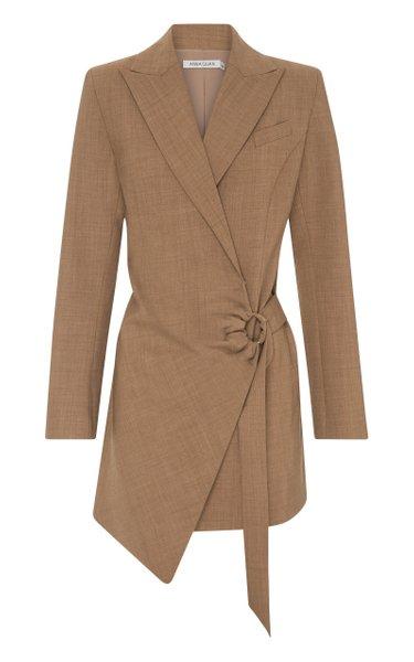 Valentina Wool-Blend Blazer Dress