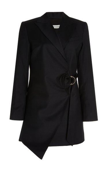 Valentina Draped Wool Mini Blazer Dress