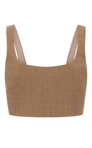 Addy Wool-Blend Cropped Top