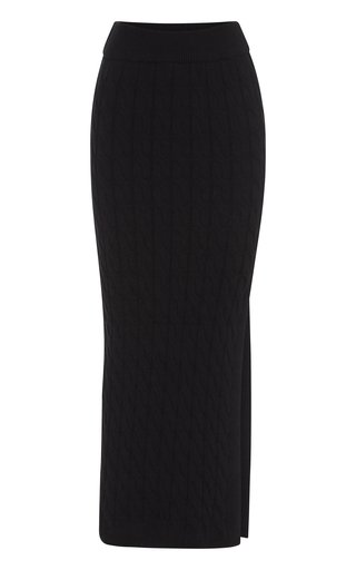 Malory Cable-Knit Pencil Skirt