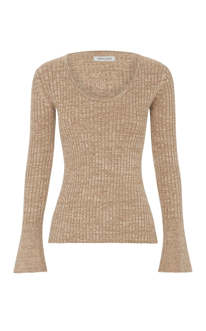Daria Ribbed-Knit Cotton Top