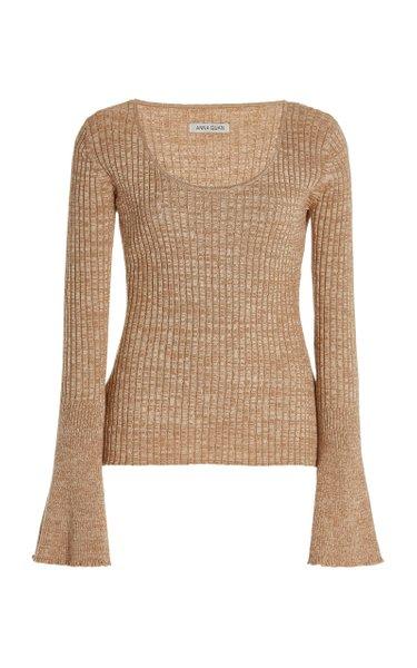 Daria Ribbed-Knit Cotton Top
