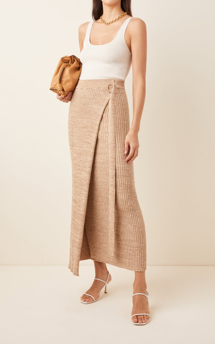 Matilde Cotton Wrap Skirt
