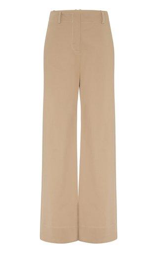 Hugo High-Rise Cotton-Blend Pants