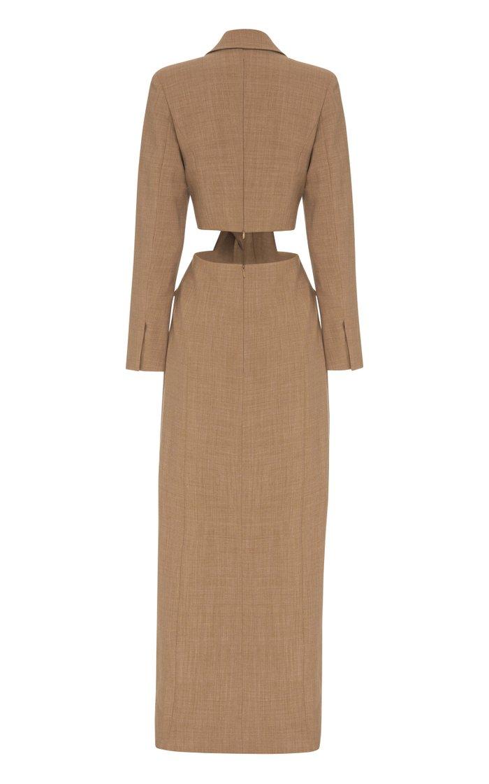 Anja Cutout Wool-Blend Dress