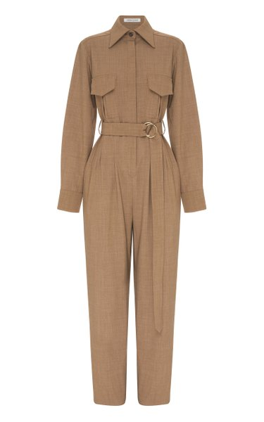 Coda Belted Wool-Blend Jumpsuit