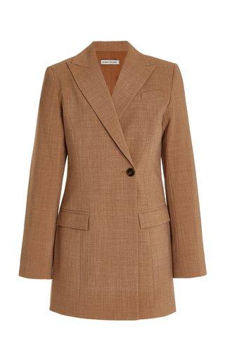 Sienna Single-Button Wool-Blend Blazer