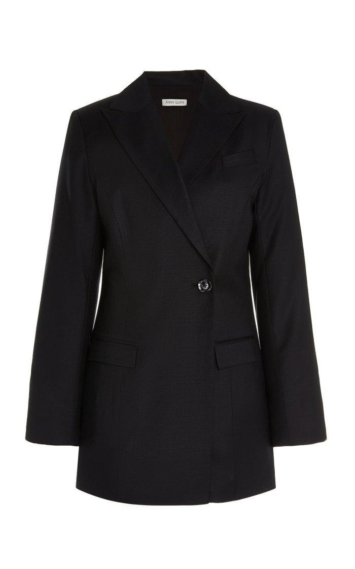 Sienna Single-Breasted Wool Blazer