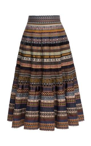 Opulence A-Line Ribbon Skirt