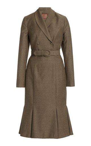 Legend Belted Wool Midi Blazer Dress