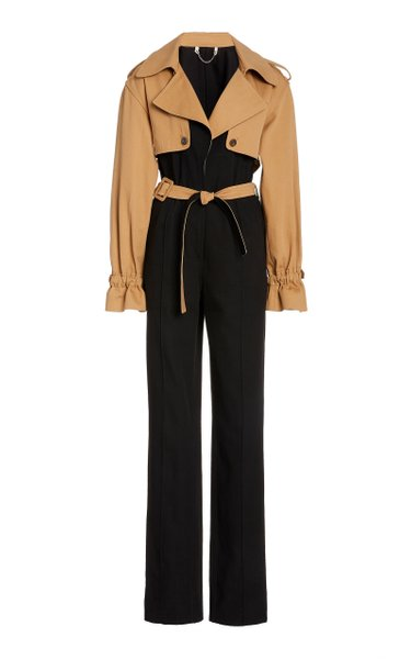 Rowan Cotton Trench Jumpsuit