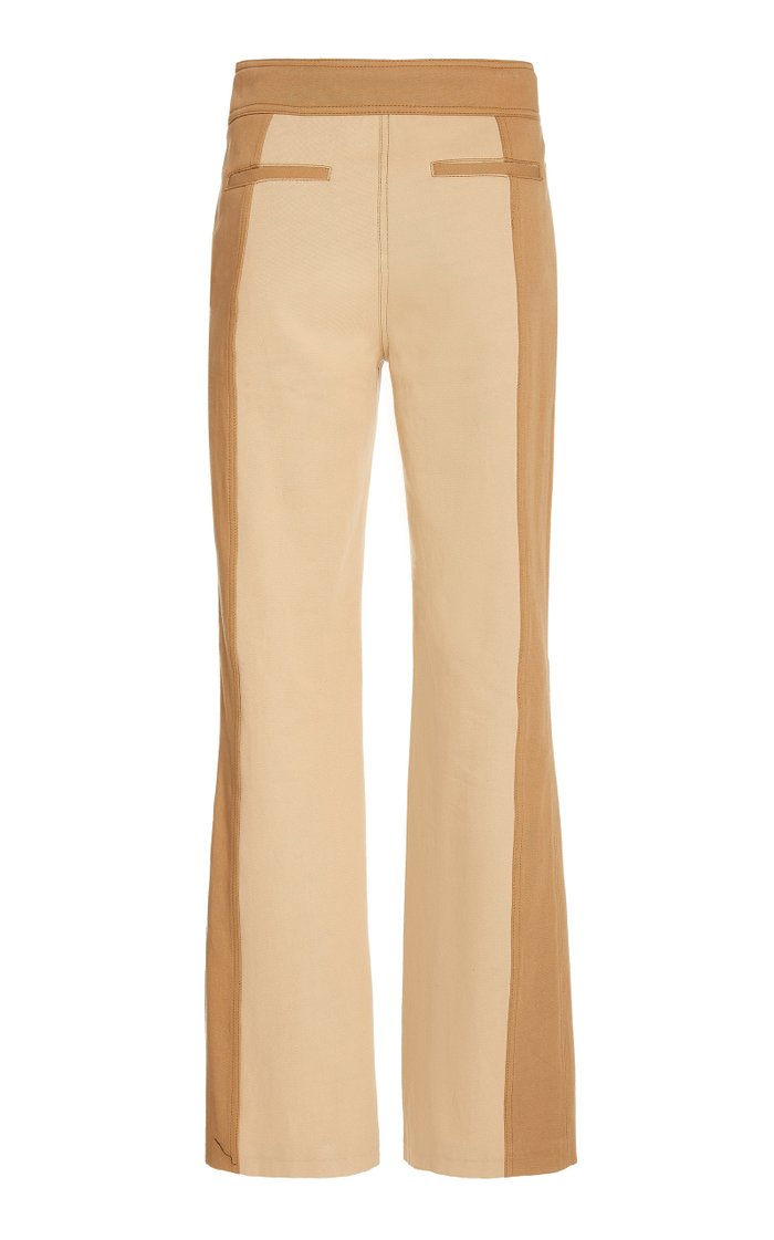 Marley Two-Tone Cotton Cropped Pants