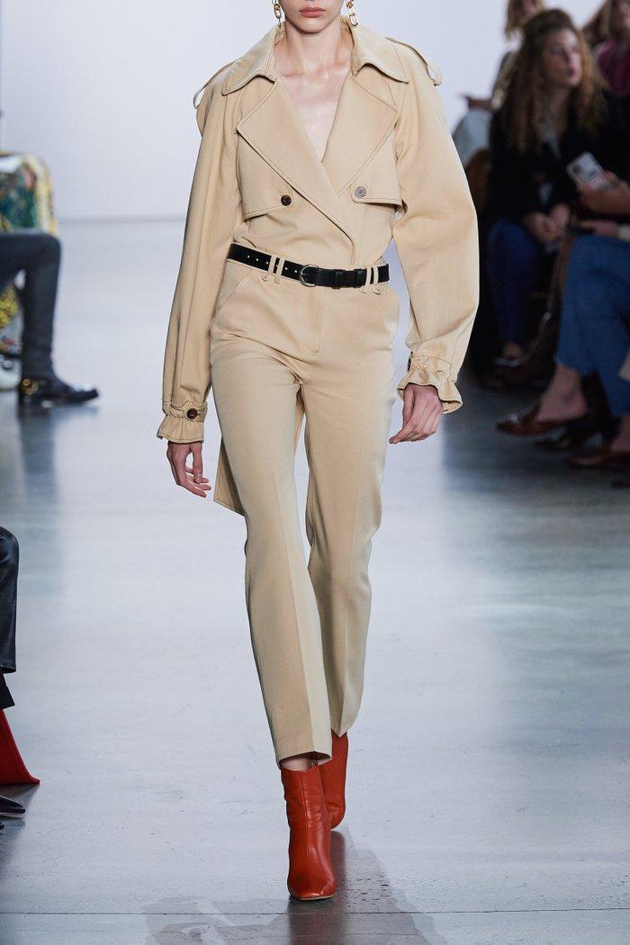 Fiona Cotton Trench Bodysuit