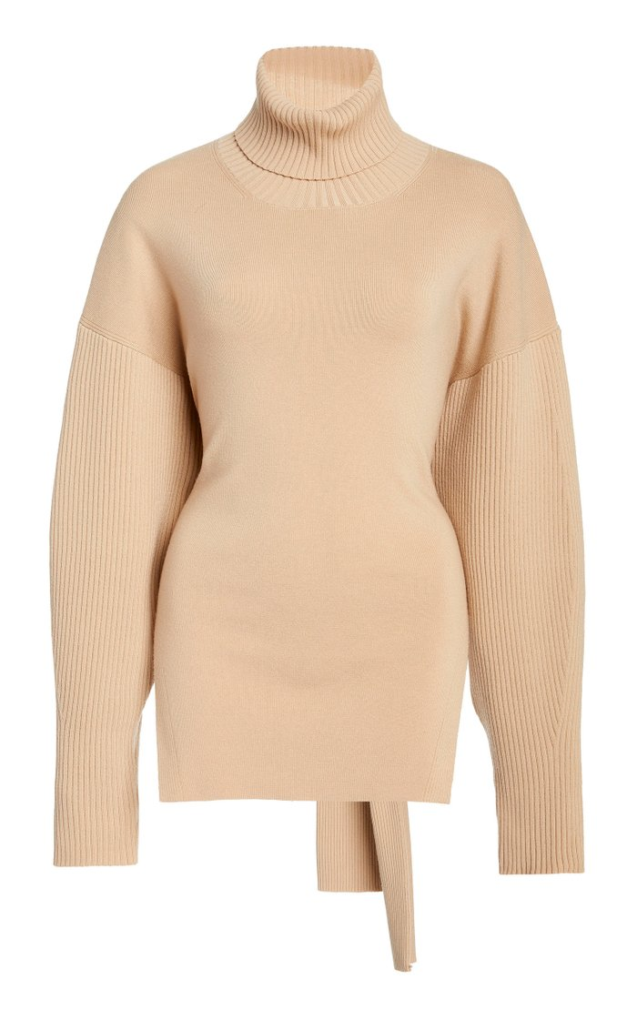 Eleanor Tie-Back Wool-Blend Sweater