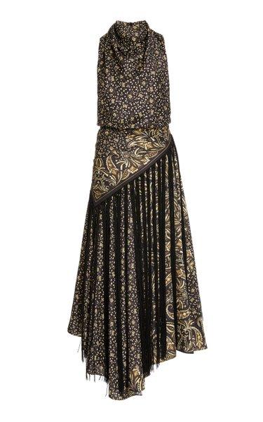 Dalia Paisley Halter Dress