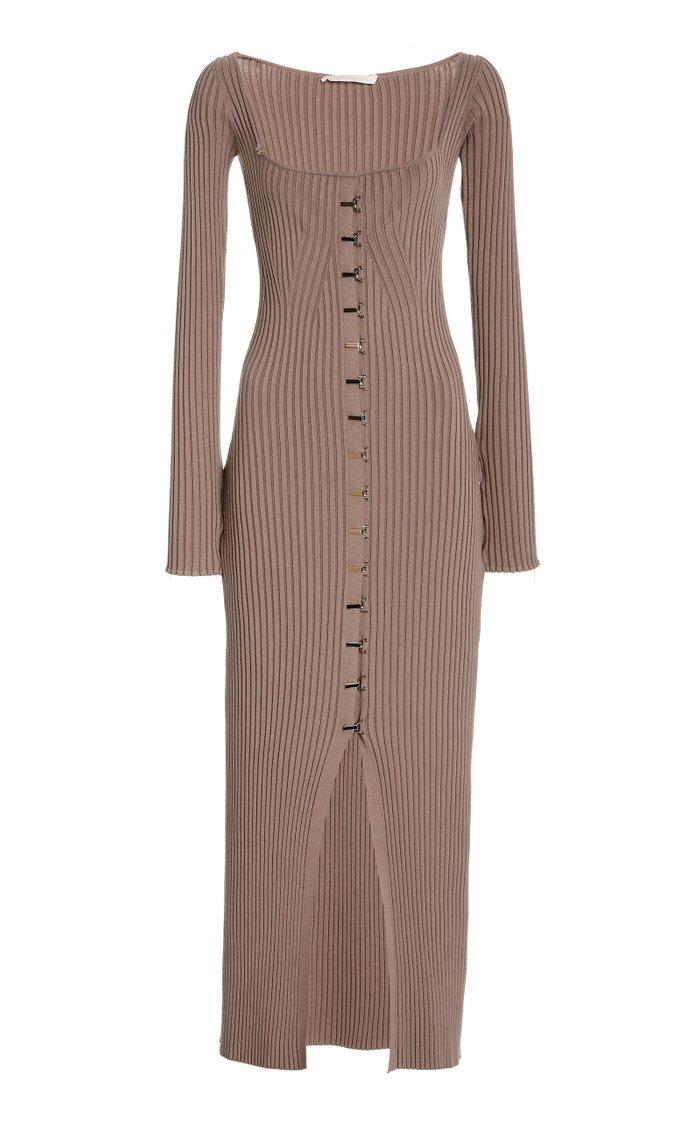 Ariana Ribbed Jersey Dress