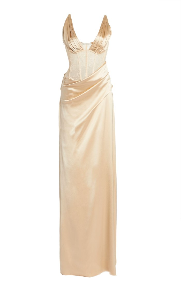 Maeve Silk-Satin Gown