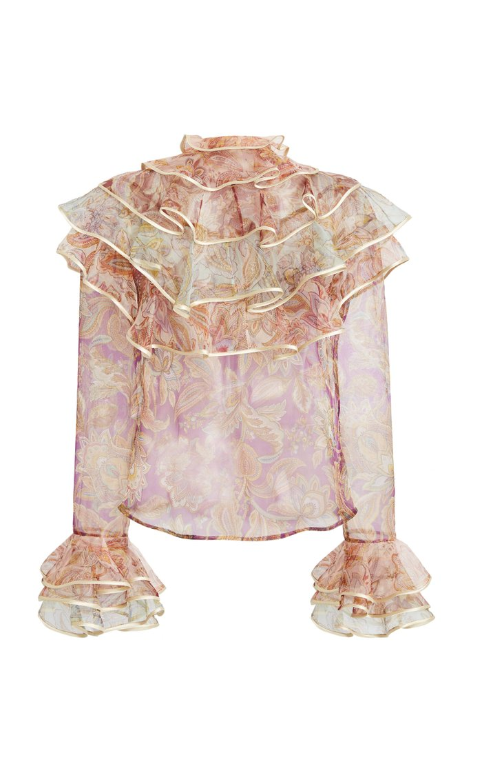 Lucky Tiered Silk Blouse
