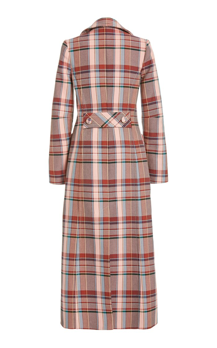 Lucky Checked Cotton-Blend Coat