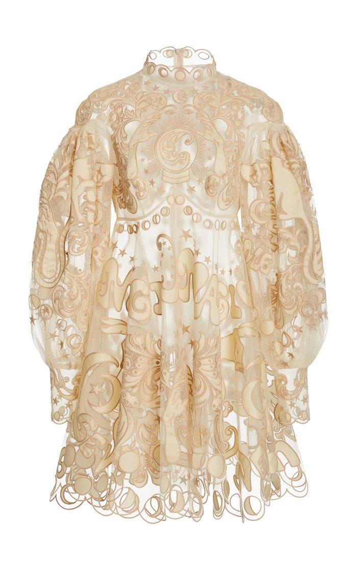 Ladybeetle Fortune Appliquéd Tulle Mini Dress