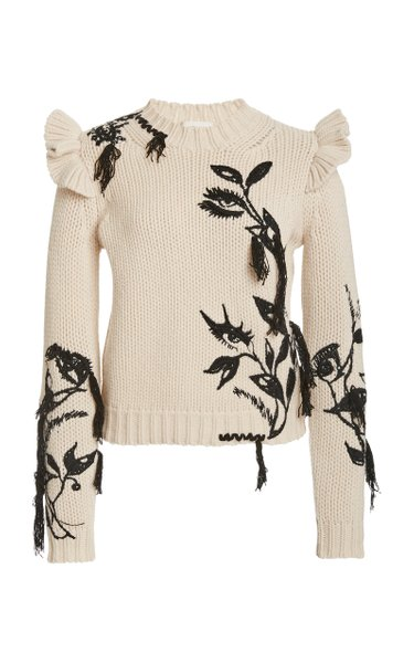 Lucky Embroidered Cashmere Sweater