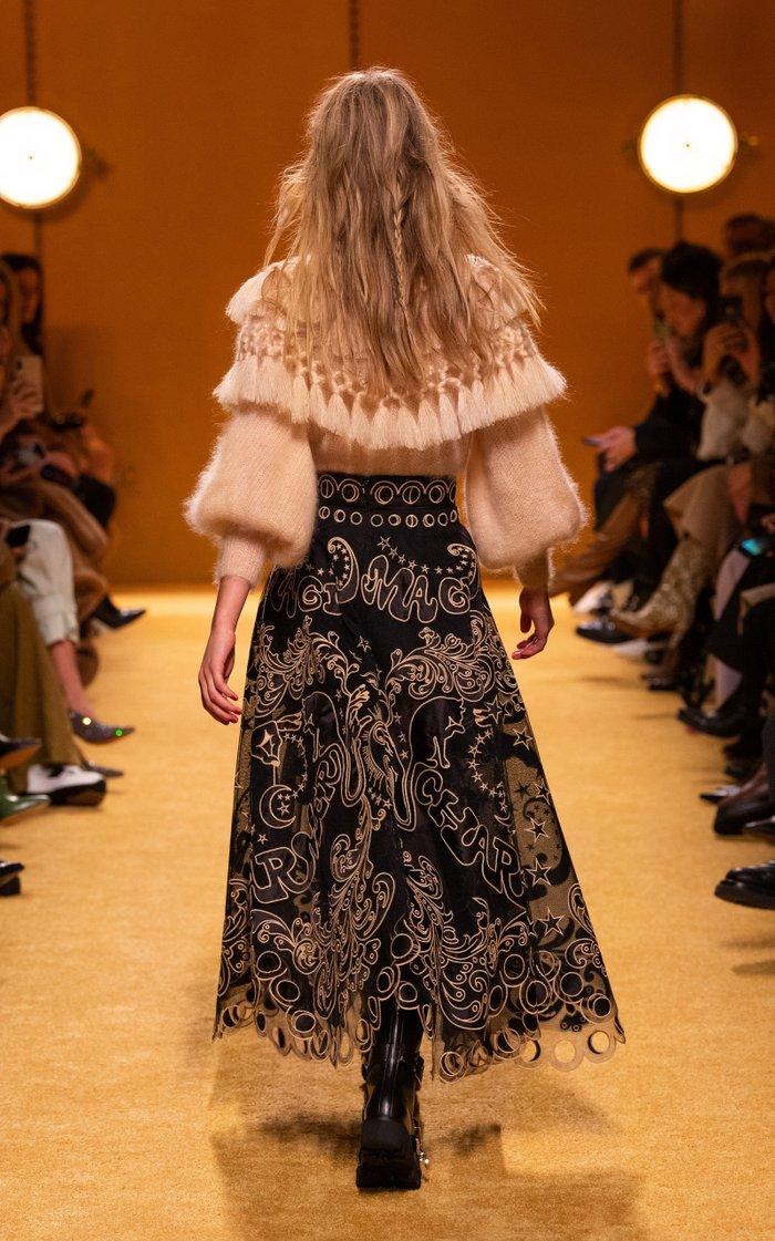 Ladybeetle Fortune Appliquéd Tulle Maxi Skirt