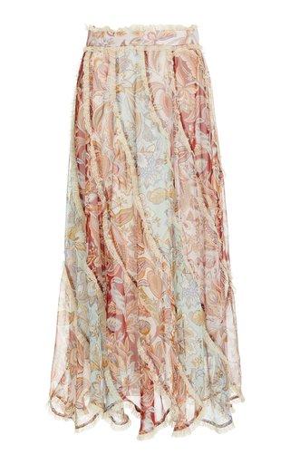 Ladybeetle Spliced Midi Skirt