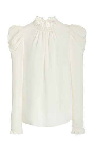 Ruffled Silk Blouse
