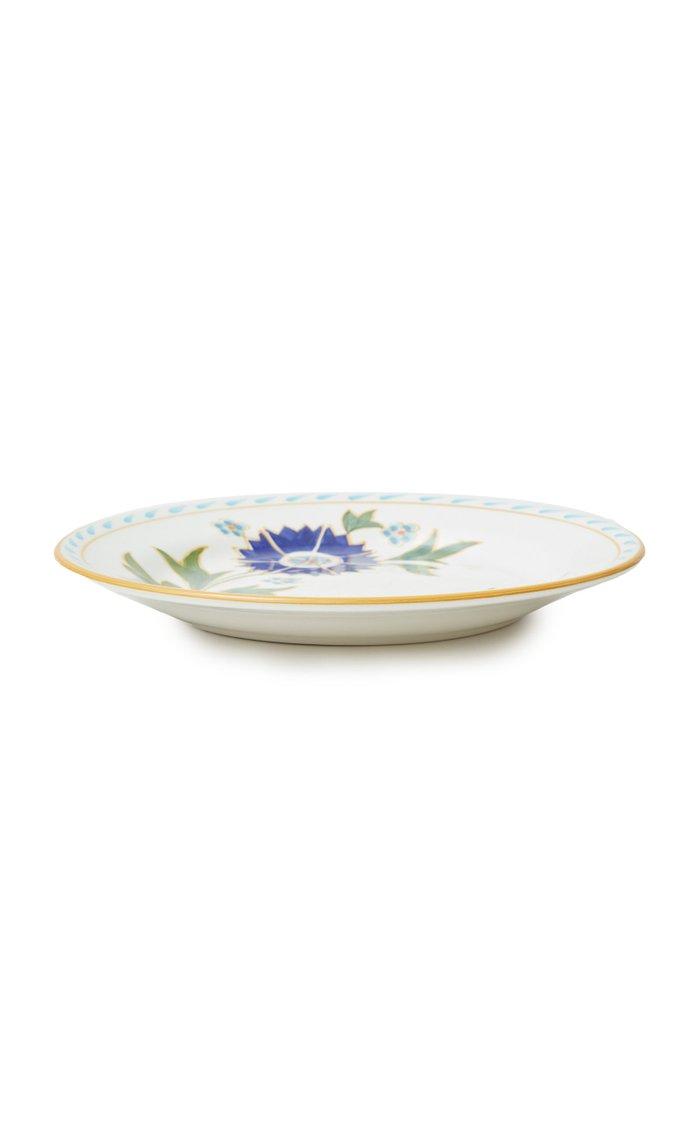 Set-of-Four Printed Ceramic Dessert Plates