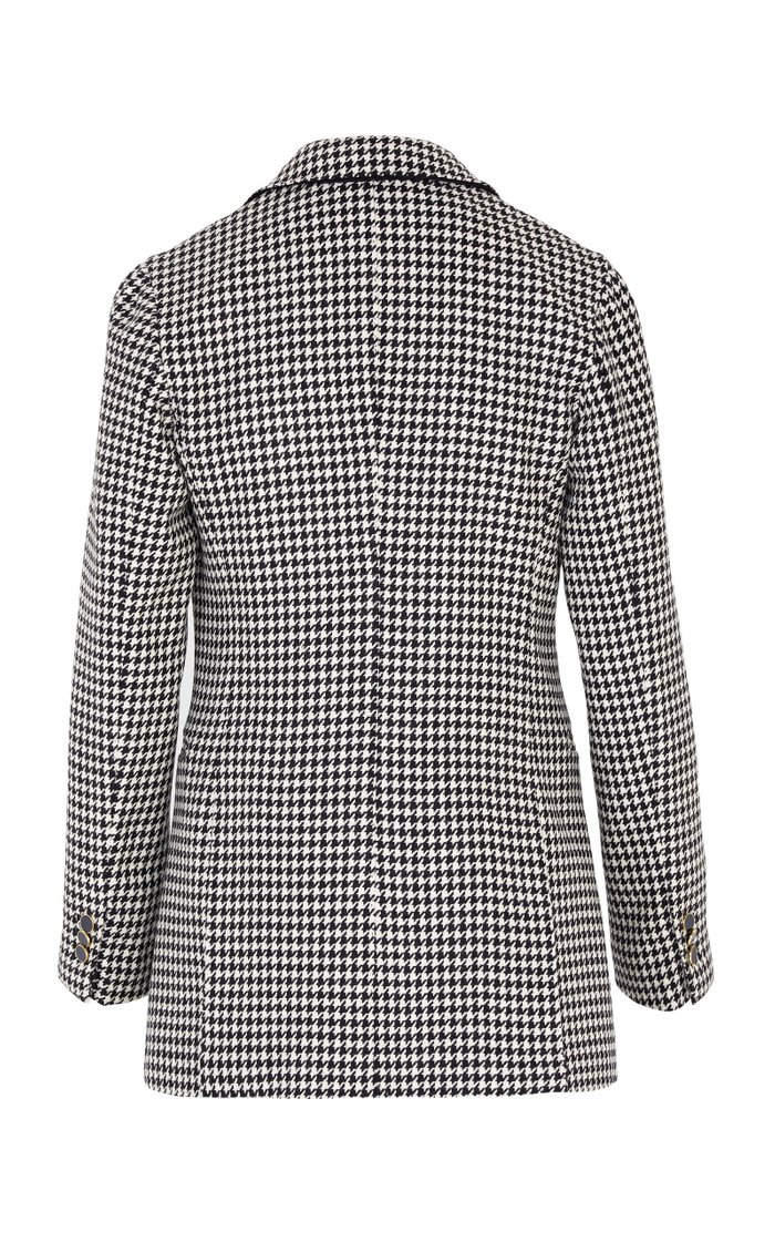 The Stella Houndstooth Wool Double-Breasted Blazer