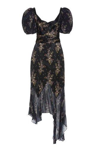 Destiny Printed Silk Midi Dress