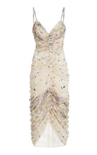 Danica Ruched Silk-Blend Dress