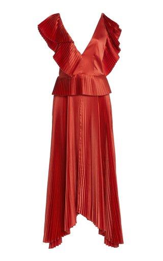 Liliana Plisse Peplum Dress