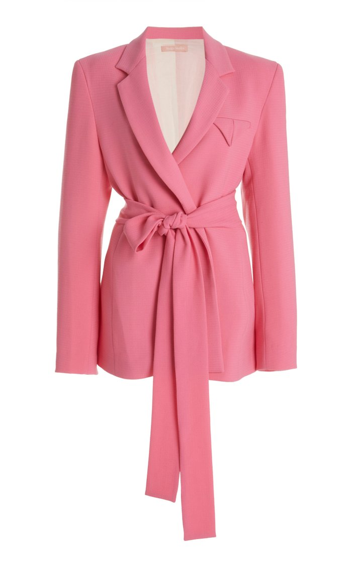Have The Faith Belted Wool Blazer