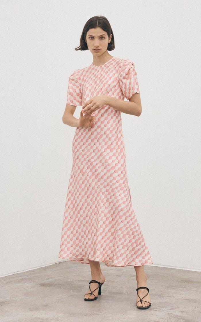 It's Up To You Printed Silk-Satin Maxi Dress