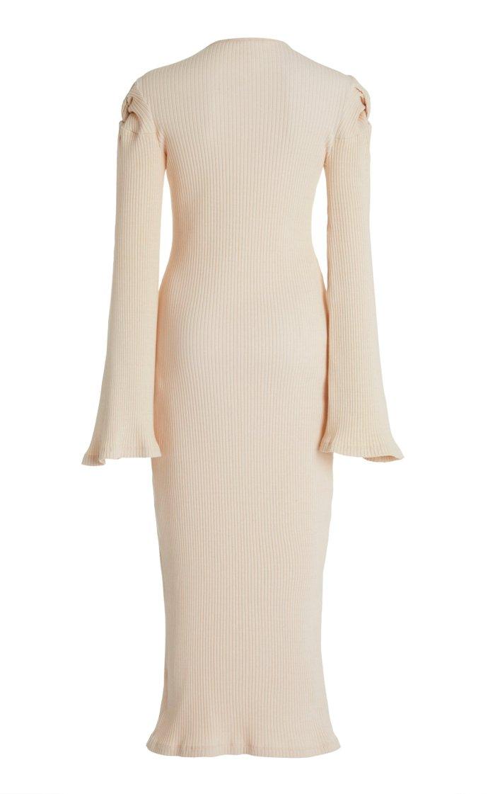 Knot On My Watch Knotted Stretch-Cotton Midi Dress
